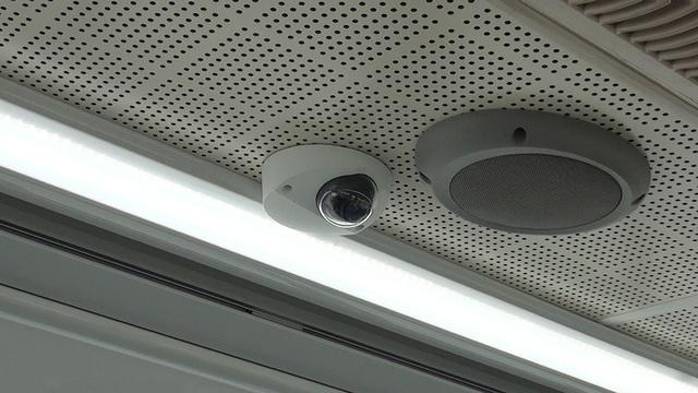 Camera độ nét cao được lắp đặt để lái xe dễ quan sát hành khách.