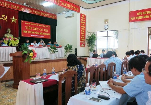 Đoàn ĐBQH TP Đà Nẵng tiếp xúc, ghi nhận ý kiến cử tri