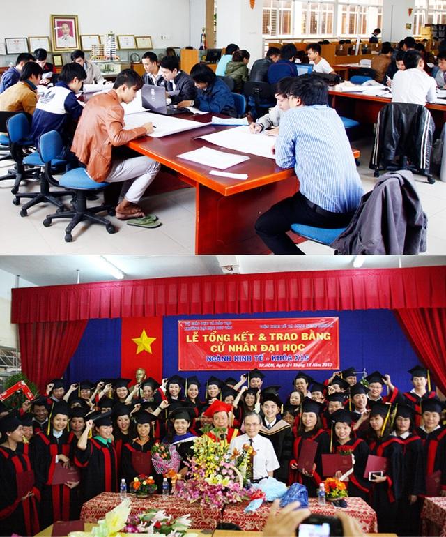 Học viên sẽ học qua mạng hoặc theo nhóm, trao đổi trực tiếp với các giảng viên ĐH Duy Tân trong quá trình học lấy bằng Cử nhân Đại học Trực tuyến