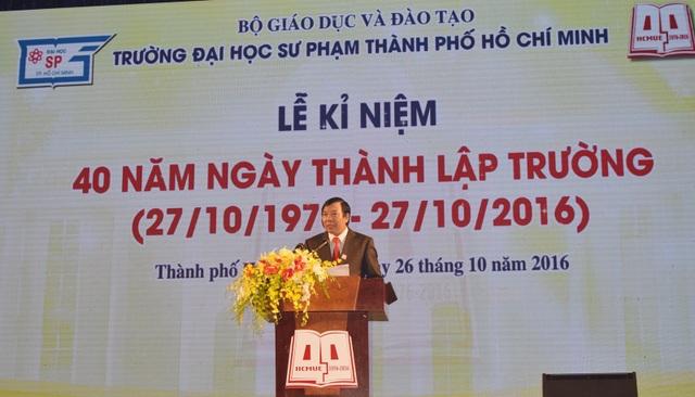 PGS.TS Nguyễn Kim Hồng, Hiệu trưởng trường ĐH Sư phạm TPHCM khẳng định trường phải thay đổi để khẳng định vị thế cửa mình