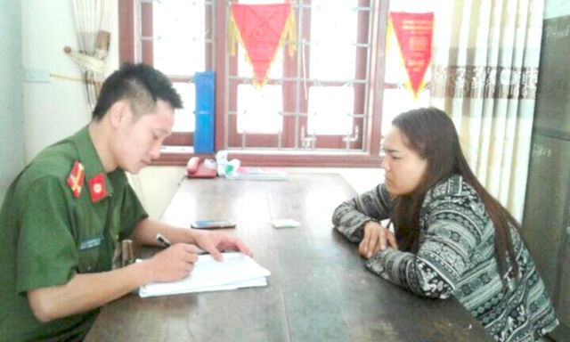 """Đối tượng Nguyễn Hà Giang Sang đã bị công an huyện Diễn Châu bắt giữ về """"hành vi mua bán trẻ em""""."""
