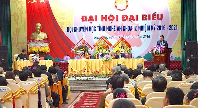 Toàn cảnh Đại hội khuyến học Nghệ An nhiệm kỳ 2016-2021.