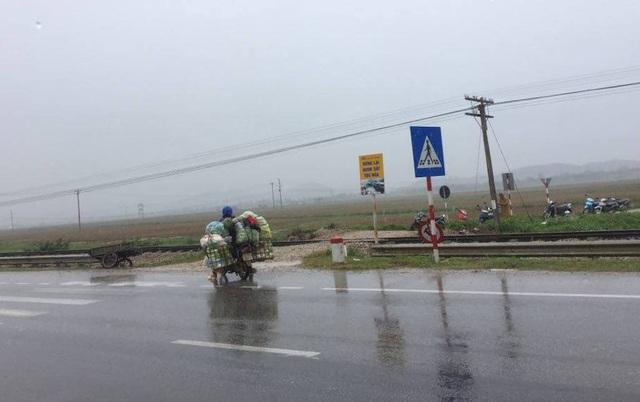 Đoạn đường ngang dân sinh nơi xảy ra vụ tai nạn.