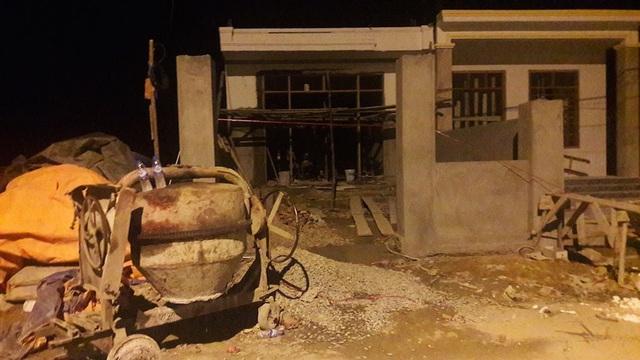 Căn nhà Nghĩa đang xây dựng dở dang - nơi xảy ra án mạng.