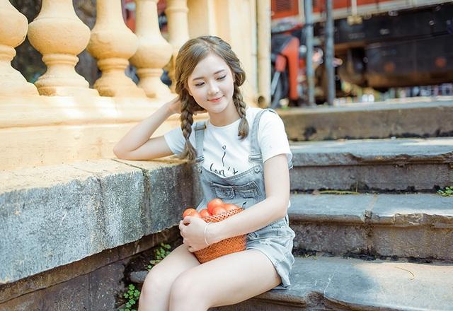 """Ngắm nụ cười trong vắt của """"hot girl dân tộc"""" Thu Hương - 9"""