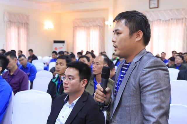 Đại biểu Trần Kim Việt phát biểu tại diễn đàn Thanh niên nông thôn khởi nghiệp chiều 26/11