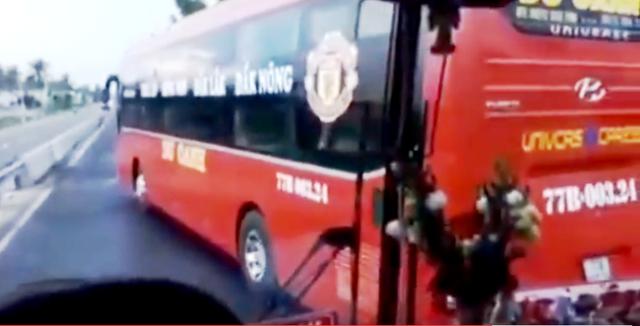 Xử lý nghiêm lái xe đánh võng, chặn đầu xe chạy phía sau xảy ra trên QL1A qua huyện Phù Mỹ, tỉnh Bình Định