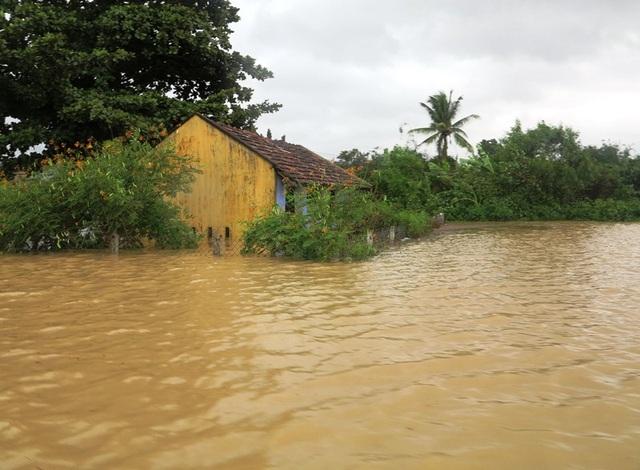 Còn ở đồng bằng nước gây ngập hàng nghìn nhà dân