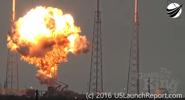 Tên lửa Falcon 9 phát nổ hôm 1/9 (Ảnh: Sputnik)