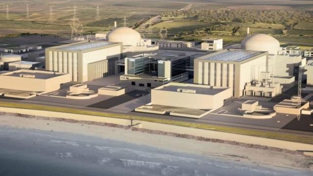 Phối cảnh thiết kế nhà máy điện Hinkley Point (Ảnh: BBC)
