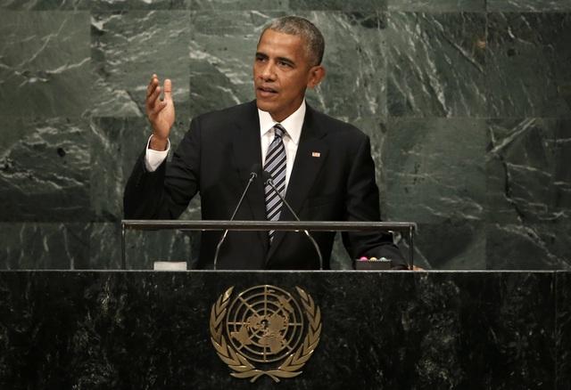 Tổng thống Barack Obama phát biểu tại Đại hội đồng Liên Hợp Quốc ngày 20/9 (Ảnh: Reuters)