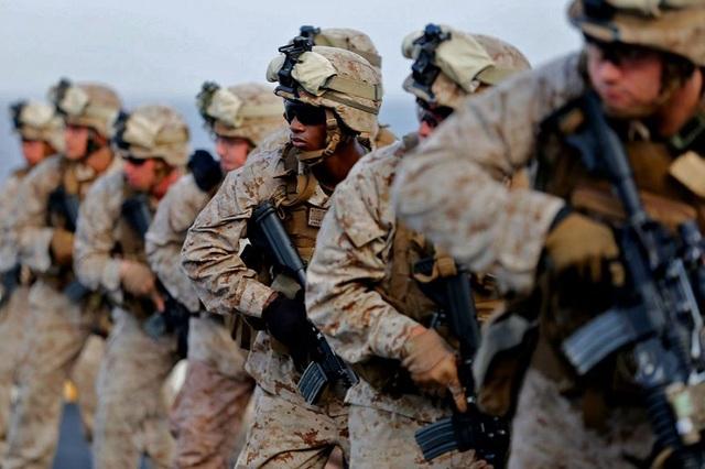 Lực lượng thủy quân lục chiến Mỹ (Ảnh: Washington Times)