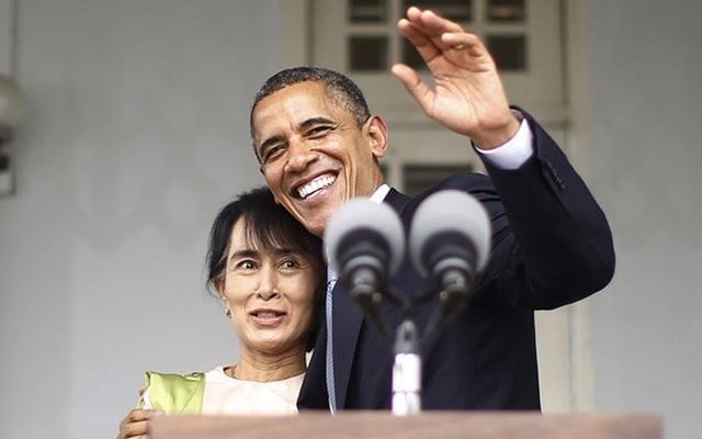 Tổng thống Barack Obama và bà Aung San Suu Kyi (Ảnh: Reuters)