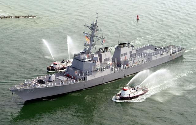 Tàu khu trục USS Mason của Hải quân Mỹ (Ảnh: Reuters)