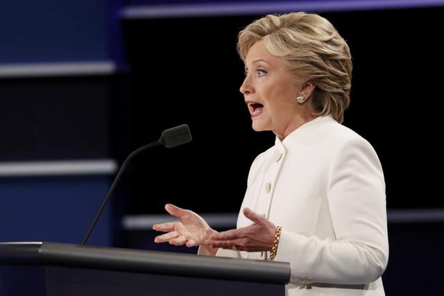 Bà Hillary Clinton trong cuộc tranh luận lần 3 với ông Donald Trump (Ảnh: Reuters)