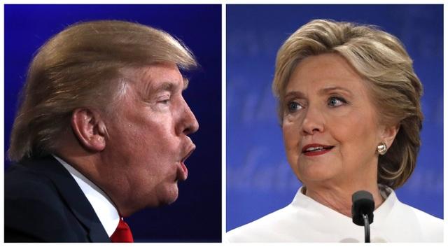 Ứng viên tổng thống đảng Cộng hòa Donald Trump và đối thủ đảng Dân chủ Hillary Clinton (Ảnh: Reuters)