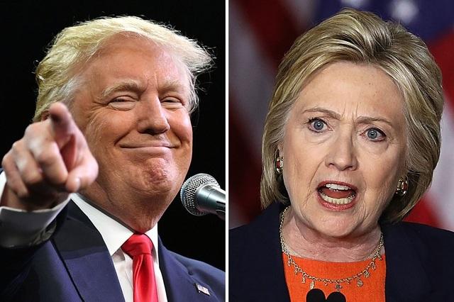 Tỷ phú Donald Trump và bà Hillary Clinton (Ảnh: Washington Magazine)