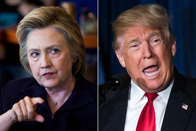 Bà Hillary Clinton và ông Donald Trump (Ảnh: Getty)