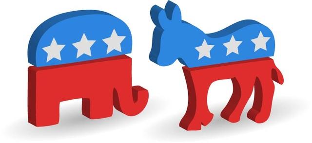 Hình ảnh con lừa và con voi đã trở thành biểu tượng của đảng Dân chủ và Cộng hòa ở Mỹ từ thế kỷ 19 (Ảnh: NYT)