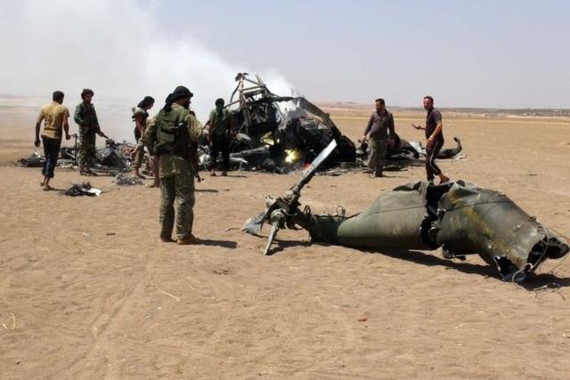 Một trực thăng Nga bị bắn hạ hồi tháng 8 khi vận chuyển hàng cứu trợ tới thành phố Aleppo, Syria (Ảnh: ABC)
