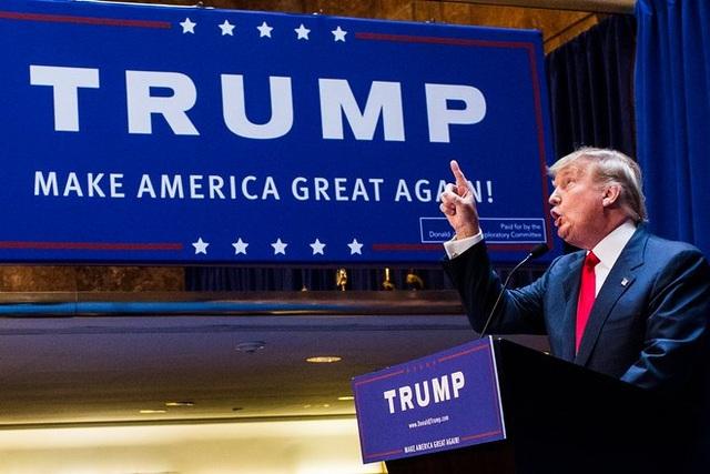 Ngày 16/6/2015, ông Trump chính thức tuyên bố tranh cử tổng thống Mỹ. Đây là quyết định gây bất ngờ với nhiều người vì tỷ phú New York gần như chưa có kinh nghiệm chính trị trước đó (Ảnh: Getty)