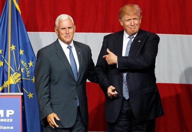 Ông tuyên bố chọn thống đốc bang Indiana Mike Pence làm liên danh tranh cử (Ảnh: Reuters)
