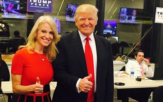 Tính đến 14 giờ 40 chiều nay theo giờ Việt Nam, ứng viên đảng Cộng hòa Donald Trump đã giành chiến thắng trong cuộc bầu cử tổng thống Mỹ năm 2016 với 276 phiếu đại cử tri, đánh bại đối thủ Hillary Clinton. Trong ảnh: Quản lý của ông Trump, bà Kellyanne Conway, đăng ảnh trên mạng xã hội Twitter kèm chú thích rằng Tôi đã sẵn sàng cho chiến thắng. (Ảnh: Twitter)