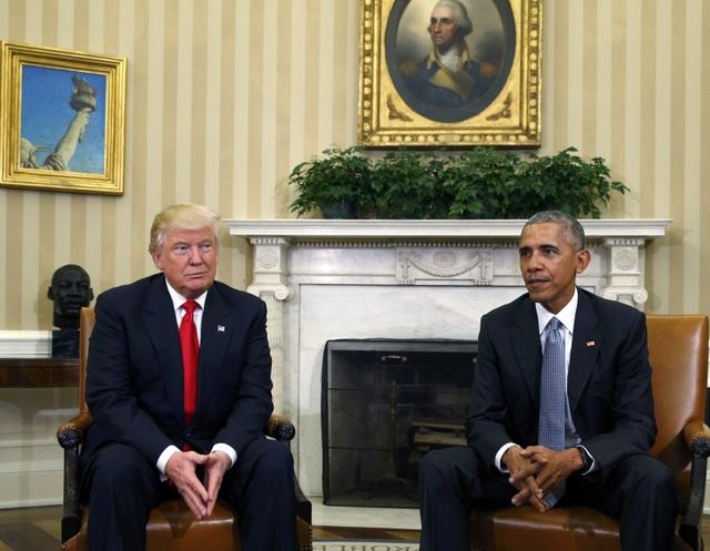 Tổng thống đắc cử Donald Trump và Tổng thống Barack Obama gặp nhau tại Nhà Trắng vào sáng nay 11/11 (Ảnh: Reuters)