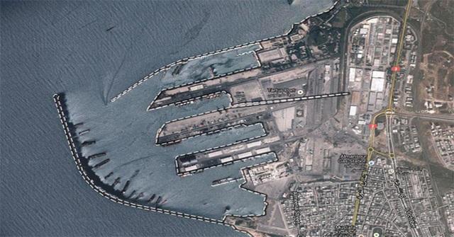 Ảnh vệ tinh cảng Tartus ở Syria (Ảnh: Google Maps)