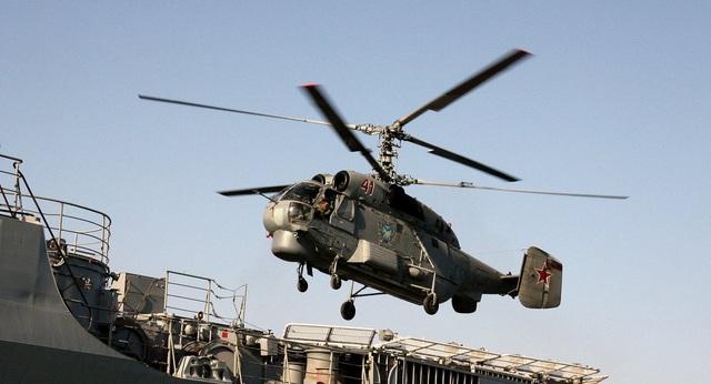 Trực thăng chống tàu ngầm Ka-27 (Ảnh: Sputnik)