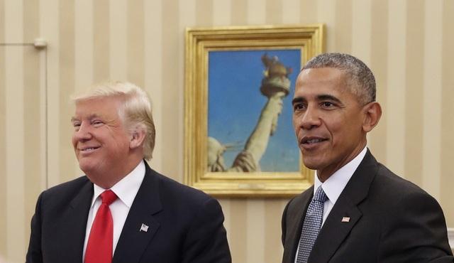 Tổng thống đương nhiệm Barack Obama (phải) và Tổng thống đắc cử Donald Trump (Ảnh: Getty)