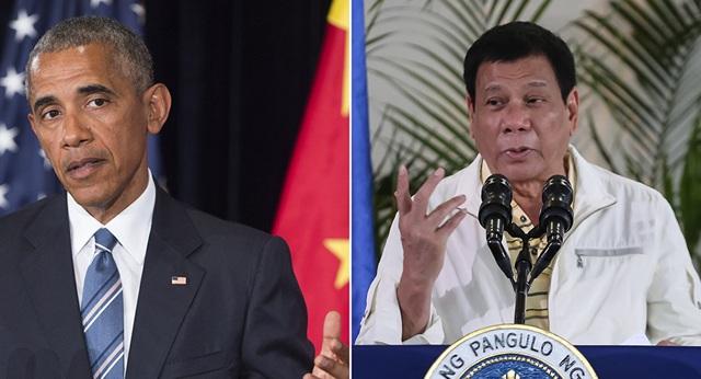 Tổng thống Mỹ Barack Obama (trái) và người đồng cấp Philippines Rodrigo Duterte (Ảnh: Sputnik)