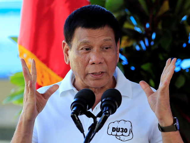 Tổng thống Rodrigo Duterte (Ảnh: Reuters)