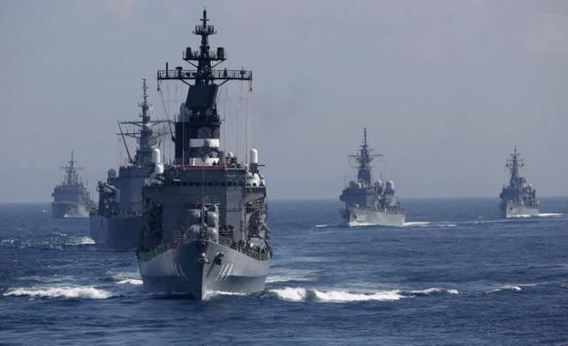 Tàu khu trục Kurama của Lực lượng phòng vệ Nhật Bản. (Ảnh: Reuters)