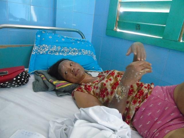 Chị Nguyễn Thị Thanh Diệp vẫn chưa hết bàng hoàng sau vụ việc.