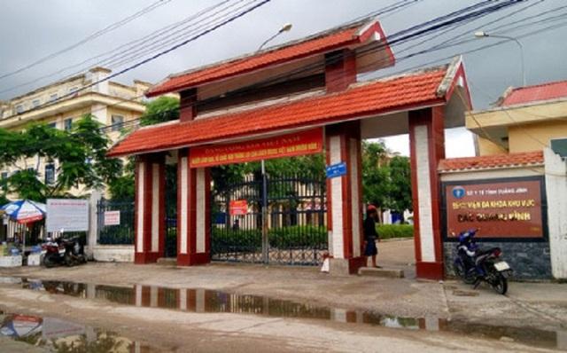 Bệnh viện Đa khoa Bắc Quảng Bình, nơi xảy ra sự việc