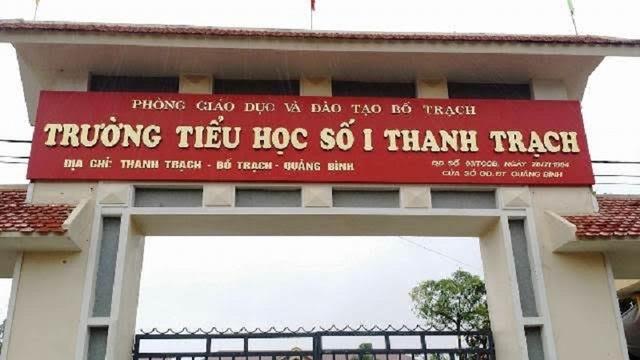 Trường tiểu học số 1 Thanh Trạch, nơi nạn nhân đang công tác