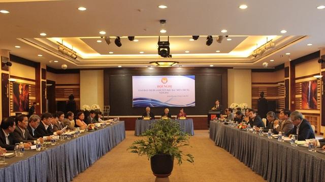Toàn cảnh Hội nghị giao ban thi đua khuyến học Bắc miền Trung năm 2016. (Ảnh Tiến Thành)