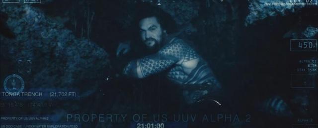 """Trong """"Batman v Superman"""", Aquaman đã xuất hiện ở một cảnh quay dưới nước. Bộ phim sẽ ra rạp vào 27/7/2018."""