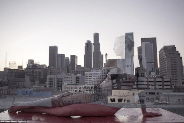 Đường chân trời của thành phố Los Angeles, Mỹ.