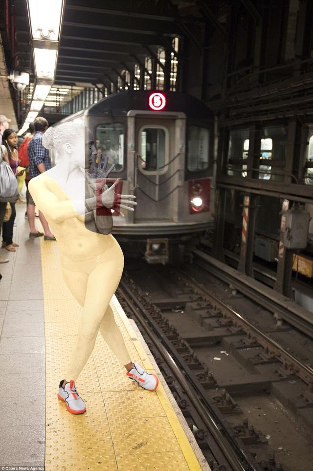 Quang cảnh nhà ga tàu điện ngầm Union Square ở Manhattan, New York, Mỹ.
