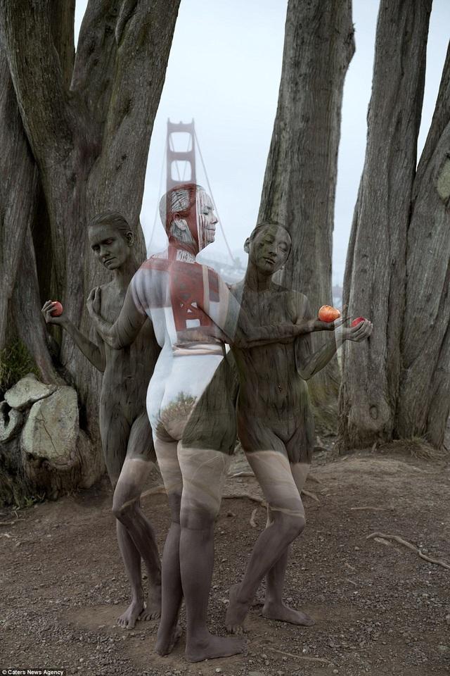 Quang cảnh gần cầu Cổng Vàng ở San Francisco, California, Mỹ.