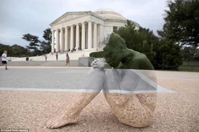 Quang cảnh trước đài tưởng niệm Jefferson Memorial ở Washington DC, Mỹ.