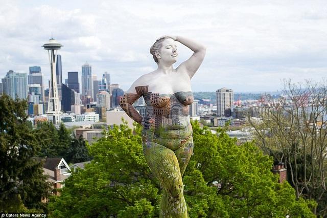 Đường chân trời ở thành phố Seattle, Mỹ.