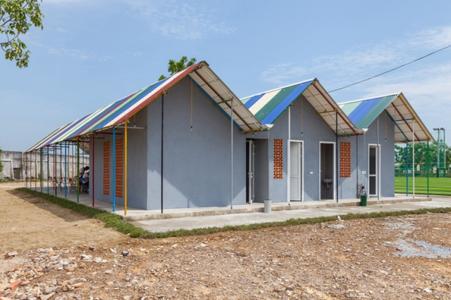 Công trình Màu tái chế được xây dựng tại huyện Đức Thọ - Hà Tĩnh