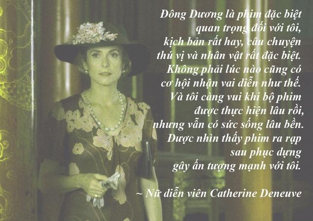 """Ngôi sao phim """"Đông Dương"""" gặp gỡ các nhà làm phim và khán giả Việt Nam - Tối 2/11, đông đảo khán giả và nhà làm phim Việt đã rất háo hức được gặp mặt nữ diễn viên Catherine Deneuve trong buổi công chiếu bộ phim """"Đông Dương"""" do bà thủ vai nữ chính. Tại buổi gặp gỡ này nữ diễn viên 73 tuổi đã khiến nhiều người trầm trồ về nhan sắc quá đỗi trẻ trung của bà."""
