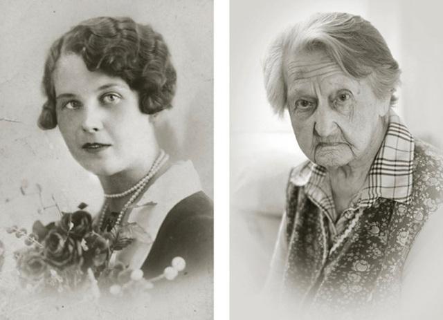 Bà Anna Vašinová vẫn không thể nào quên nổi cái chết của chồng trong thời kỳ xảy ra nạn diệt chủng người Do Thái. (Ảnh trái: năm bà Anna 22 tuổi. Ảnh phải: năm nay bà đã 102 tuổi)