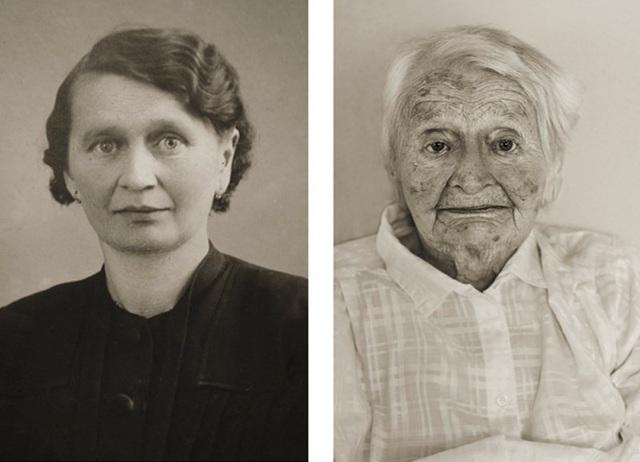 Bà Anna Pochobradská hiện giờ sống một mình. Cô con gái duy nhất của bà có gia đình riêng và chỉ có thể về thăm mẹ vào mỗi cuối tuần. (Ảnh trái: năm bà 30 tuổi. Ảnh phải: năm bà 100 tuổi)