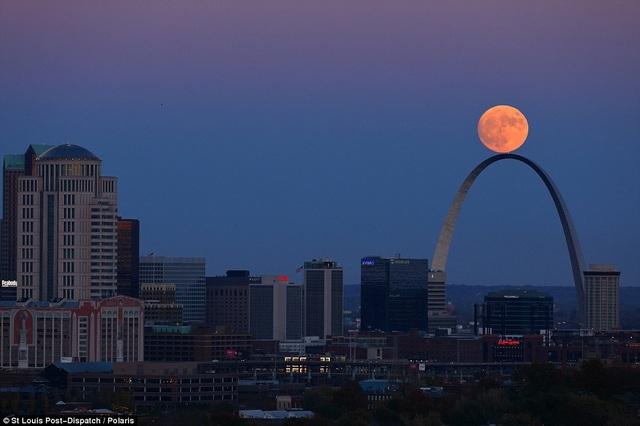 Siêu trăng ở thành phố St Louis, bang Missouri, Mỹ.