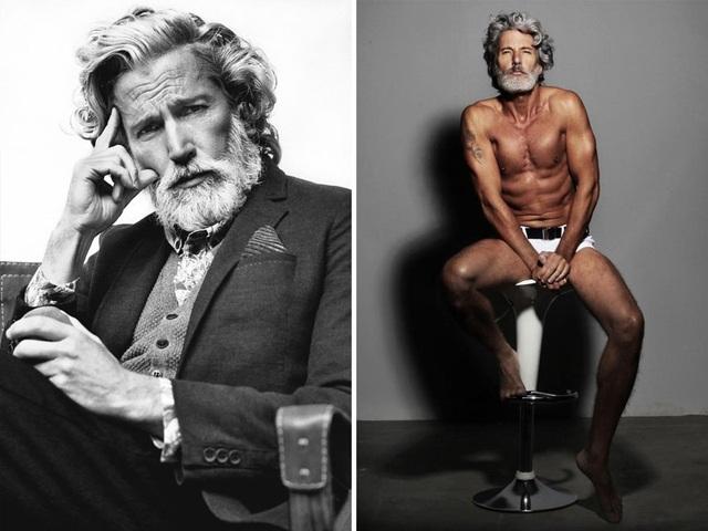 """Người mẫu Anh Aiden Brady (50 tuổi) sở hữu vẻ đẹp hấp dẫn đến cả thanh niên cũng phải """"ngả mũ""""."""